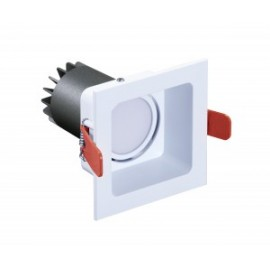 Mini downlight cuadrado orientable L75 10W 80º